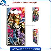 2015 NEW sublimation phone case for Samsung A7,sublimation PC Case with aluminum plate,sublimation phone cover