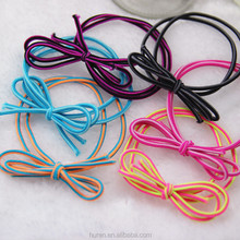 double layers covered hair elastic band, types of hair bands