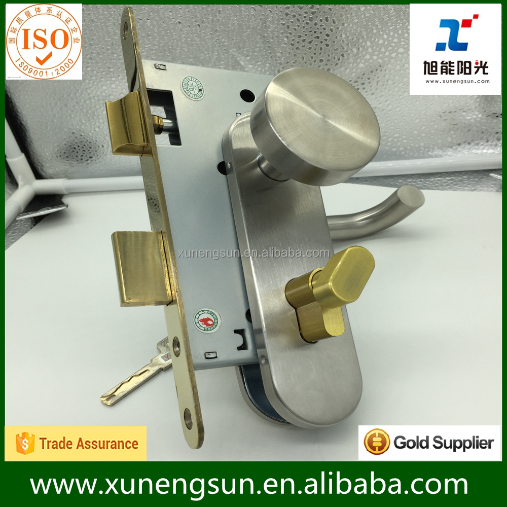 European standard stainless steel mortise body lock 7255 with CE in cheap price