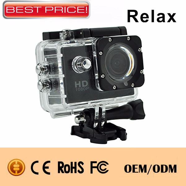 Cheapest action camera 30m waterproof 2.0inch display ip68 underwater sport camera