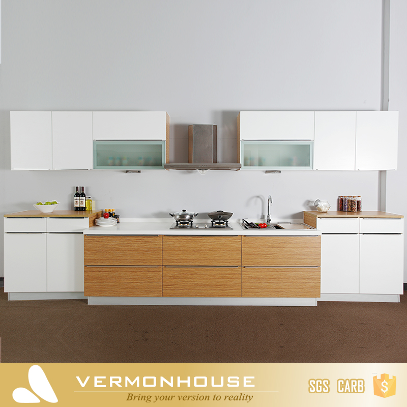 2017 Vermont Promotion Modern White Color MDF New Model Kitchen Cabinet