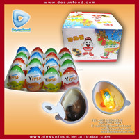 Kinder egg chocolate with novelty toy inside