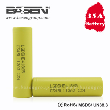 Wholesale price LG battery ICR 18650 HE4 battery 2500mAh 35A battery