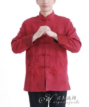 chinese traditional long sleeve mens clothes