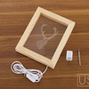 Wooden 3D Photo Frame Table Lamp
