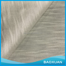 Baoxuan Textile 2016 Hot Sale Fake Linen 100% Polyester Single Jersey Slub Knit Fabric