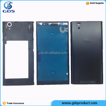 For ZTE ZMAX Z970 Black Front Mid Frame Back Housing Camera Lens back cover door Replacement