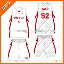 100% polyester tight fit basketball shirt