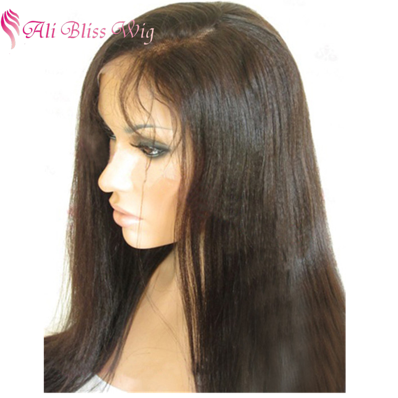 20 Inch Glueless Bleached Knots Long Natural Hairline Indian Remi Silky Straight Full Lace Wig with Baby Hair for Young Women