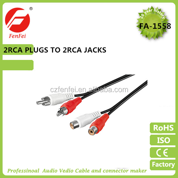 2rca plugs to 2rca jacks vga rca cable car audio