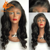 Cheap 100% Brazilian Human Hair Full Thin Skin Wig Human Hair Silk Base Full Lace Wigs