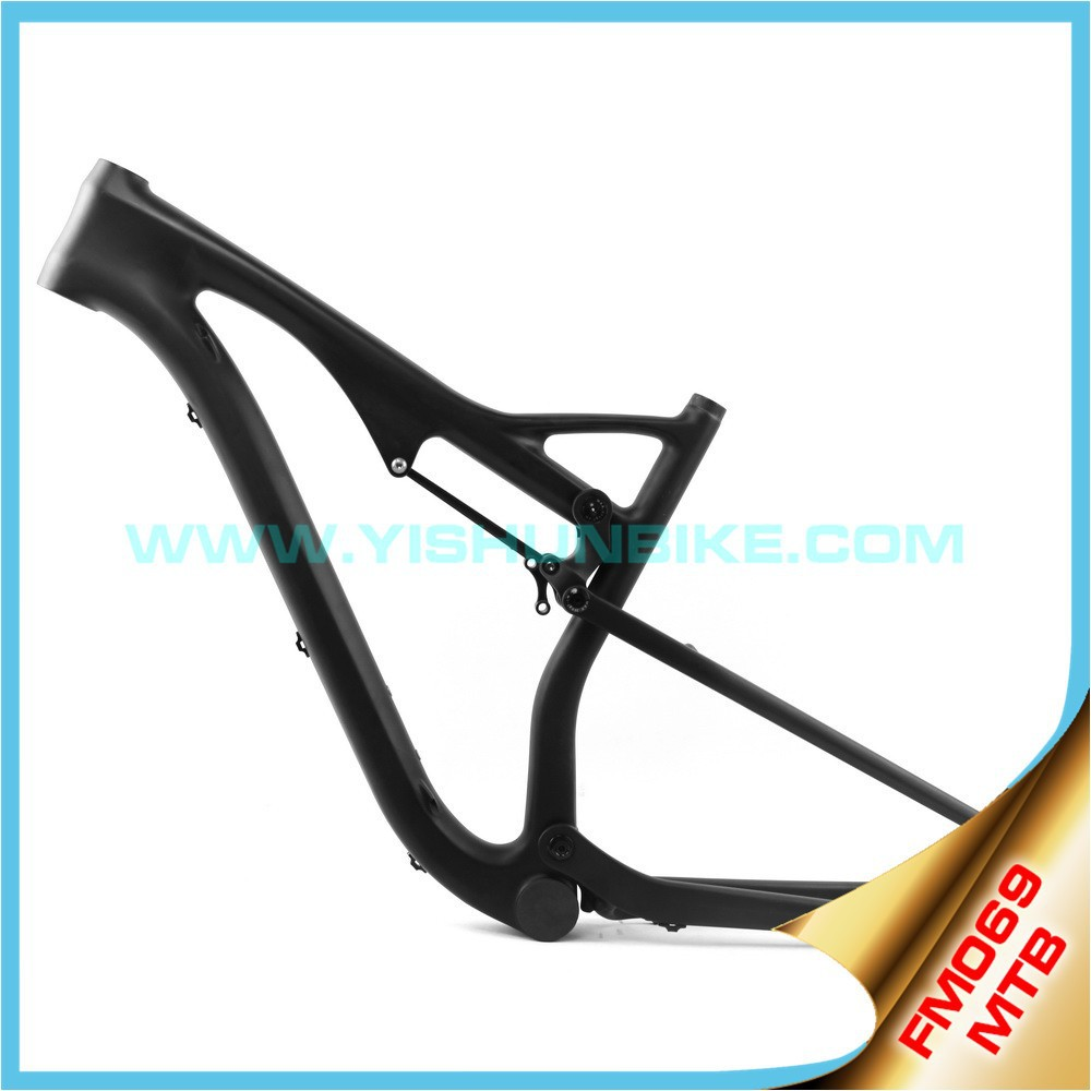 OEM china carbon frame 29er bike full suspension mountain bike frame BB30/ PF30 mtb carbon frame Disc Brake FM069