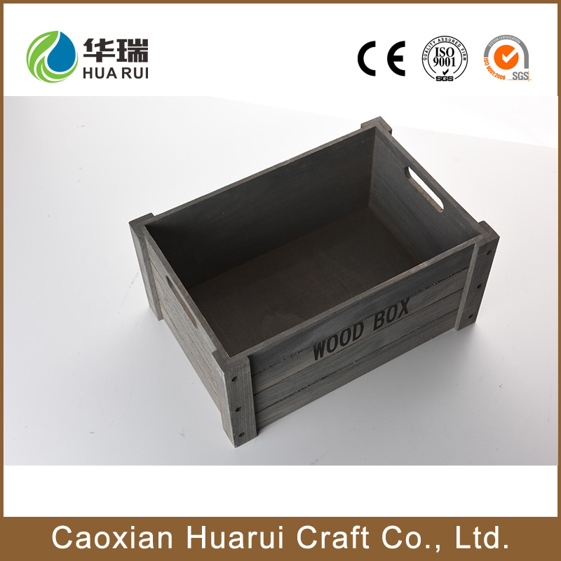Factory supply accept custom order vintage cheap wooden wine crates