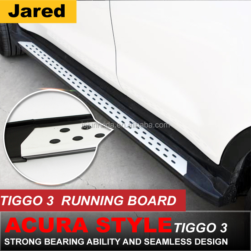 side step running boards car exterior accessories for chery tiggo 3
