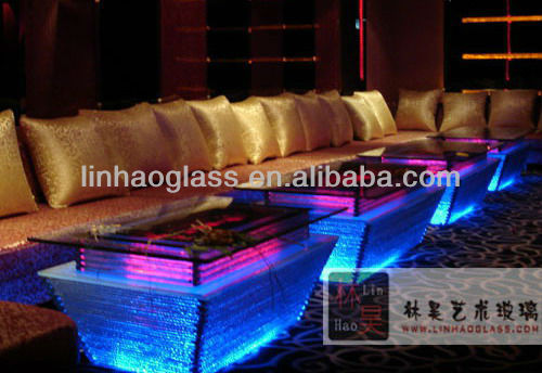 led interactive bar table, ktv bar table with led lights