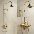 Luxury Bathroom Single Handle bath&Shower faucet Set Brass Gold Faucet