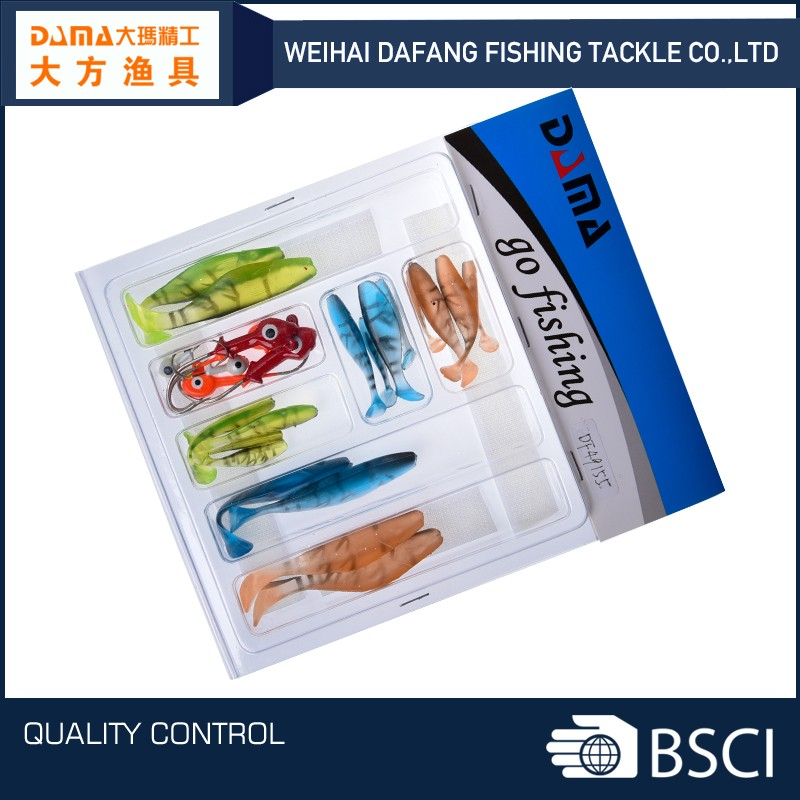 DF49155 OEM weihai soft fishing lure bait set
