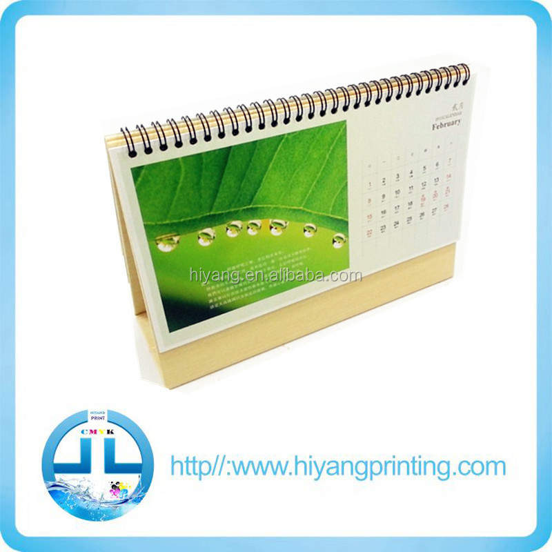 personalized Chinese supplier desktop acrylic table calendars