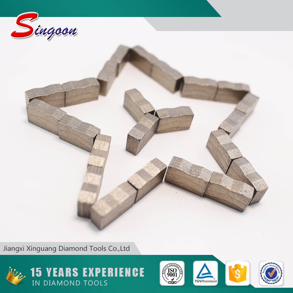6.5mm Multi Diamond Saw Blade Segment for stone cutting