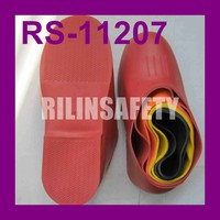 RILIN SAFETY cheap kids rubber overshoes from end factory,pvc ankle rain boots natural rubber rain boots warm winter