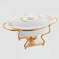 CD112 High Quality and Fashion ceramic chafing dish luxury chafing dish round chafing dish