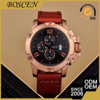 Elegant Top Quality Custom Shape Printed 5 Atm Water Resistant Men Iced Watches