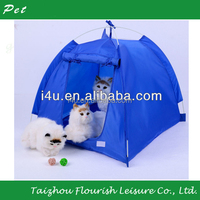 Dogs Cats Tent House Pets Fashion wigwam Outdoors Camping Home Blue