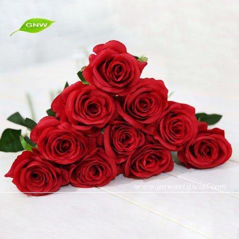 FLS01-3 GNW red rose artificial flowers wedding as table wedding decoration flower centerpiece