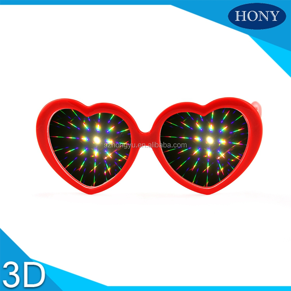 Heart Shape Frame Style 3D Laser Glasses With 13500 Lines Effect