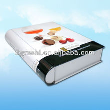 Book tin case for packaging cell phone