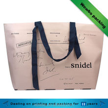 customized Reusable creative shopping paper bag/ Eco friendly Recyclable paper shopping bag