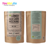 Colourful Fantastic Promotional kraft paper foil lined bags