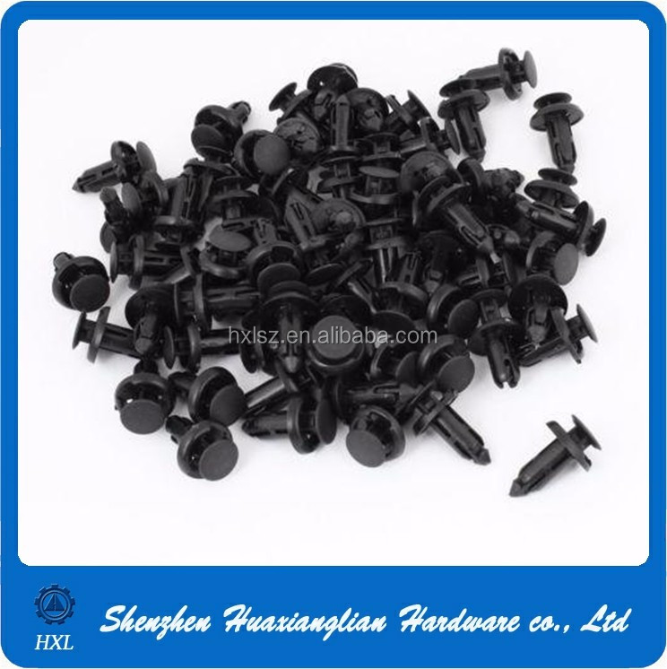 different types plastic car auto fasteners door fender plastic rivet screws fasteners