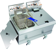 17L commercial electric double basket chip deep fryer
