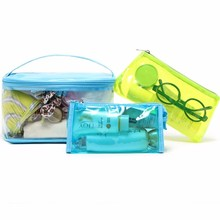 3pc/set Newest Female Swimming Cosmetic Bag Travel Toiletry Makeup Storage Case