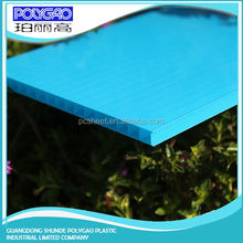 4mm thickness clear PC twin wall polycarbonate hollow sheet for greenhouse