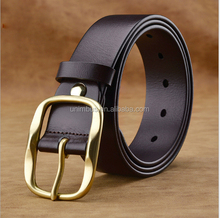 New version of the small alloy buckle belt with decorative Thread