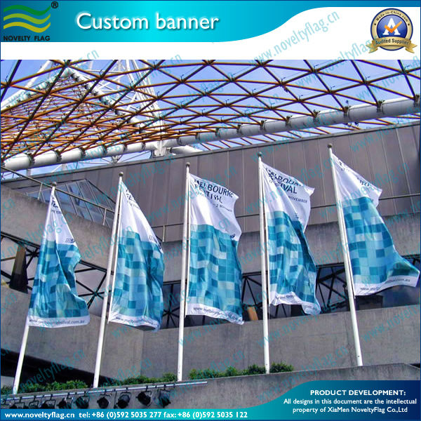 Outdoor Advertising 100% polyester Flags with Custom Logos (NF02F06017)