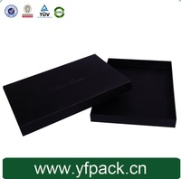 Black Paper Packaging Box With White Logo For T-Shirt Gift Box Packaging