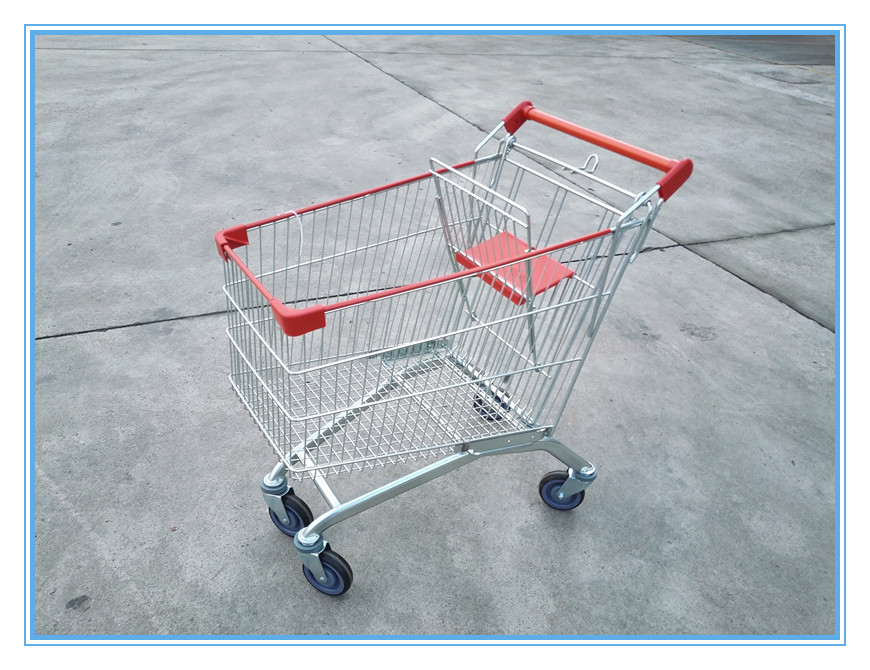 Supermarket retail shopping carts with metal wire