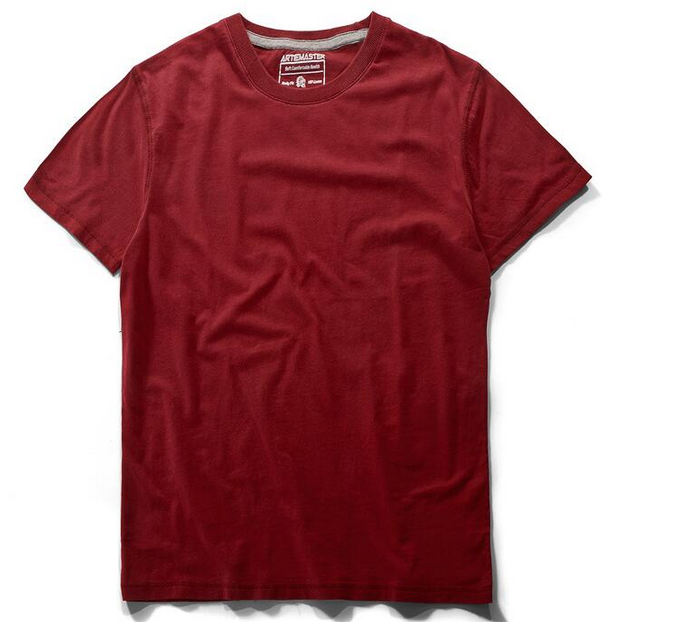 Hot selling blank t shirt 100% cotton o-neck fashion Solid Color Tshirt men casual top tees