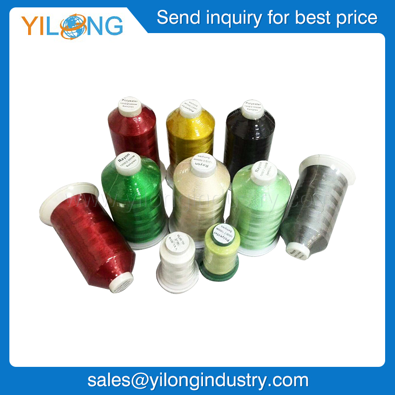 120D/2 Soft Polyester Reflective Embroidery Thread Polyester Machine Embroidery Thread reflective thread different colors
