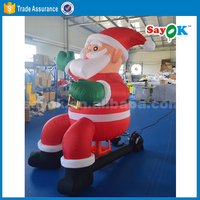 outdoor inflatable sitting santa clause inflatable santa in chair