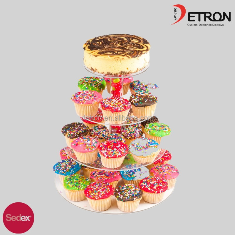 4 tier acrylic cupcake stand party wedding cake display