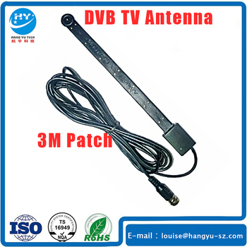 Active Car Satellite DVB TV Antenna IEC Connector 5Meters Cable