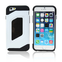 shockproof carbon fiber board pc+tpu cell phone case for iphone 6 plus