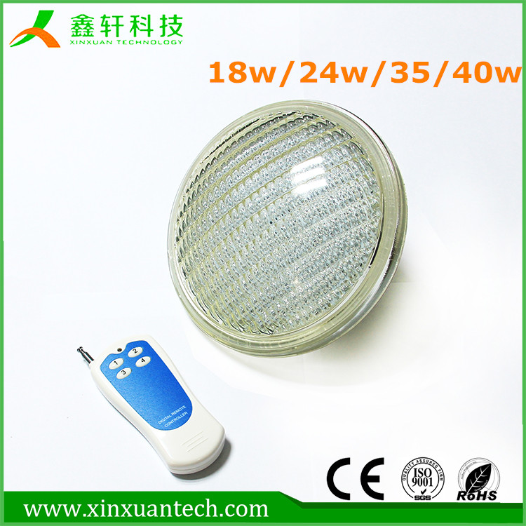 SMD 3014 LED Pool Light and 18W AC 12Vled swimming pool Lamp par56 led lamp