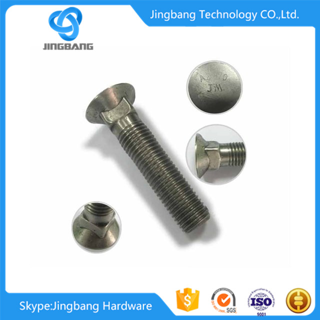 China manufacturer round head square neck bolt flat head carriage bolt