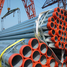 Rizhao Good quality galvanized steel tube / GI steel round pipe / hot dip galvanized steel pipe