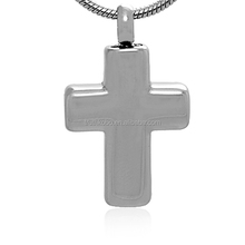 Stainless Steel Religious Cremation Urn Memento Cross Christianity Urn Pendant